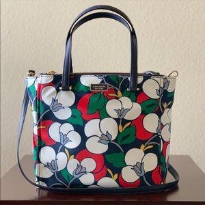NWT♠️Kate Spade Dawn Breezy Floral Nylon Satchel